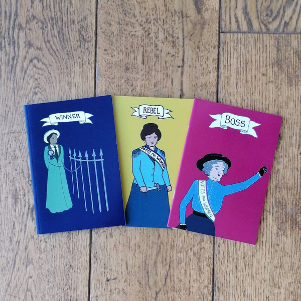 Rebel notebook set of three; Winner, Rebel, Boss | Image courtesy of People's History Museum shop