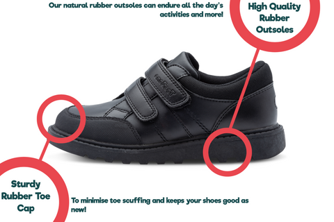 ToeZone shoes for kids special features