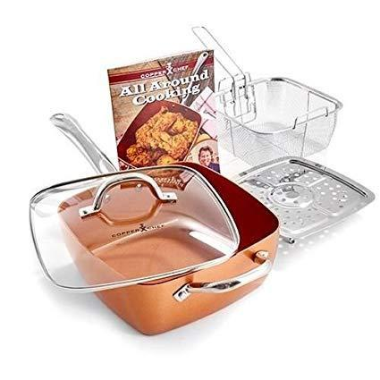 Square Copper Pan Set