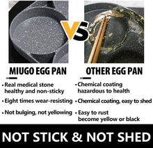 Cargar imagen en el visor de la galería, MIUGO four-cup egg pan, medical stone non-stick frying pan, compatible with all heat sources (3-inch eggs)