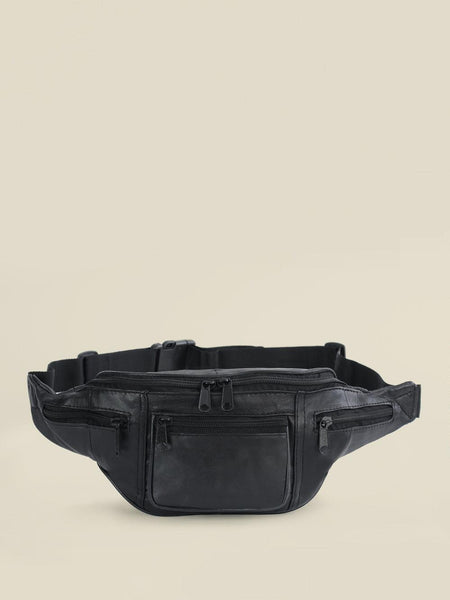 Adjustable Waist Leather Belt Bag