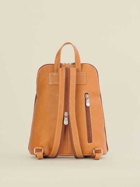 Clean Front Leather Backpack