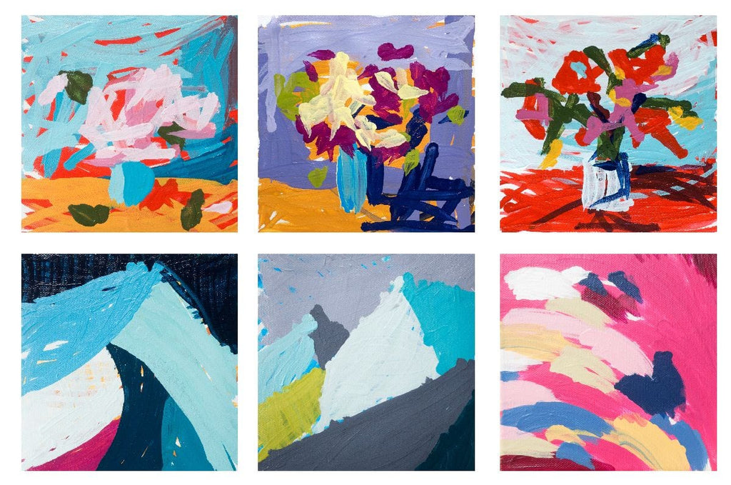 Joanne Hastie's final submissions to the robot painting competition in 2018