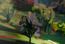 Load image into Gallery viewer, Close up of Original Painting Italian Hillside by Joanne Hastie