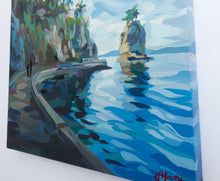 Load image into Gallery viewer, Close up of Painting Stanley Park stroll by Joanne Hastie