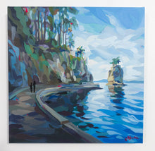 Load image into Gallery viewer, Original Painting Stanley Park Stroll by Canadian artist Joanne Hastie