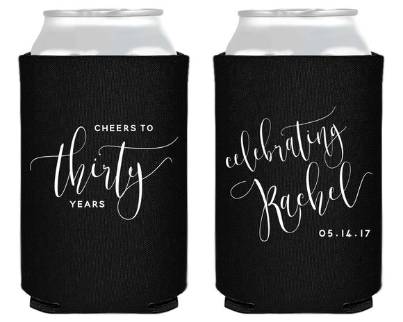 Cheers to 30 Years Birthday Party Can Cooler Design #1436