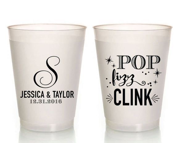 Pop Fizz Clink Party Frosted Cups #1626