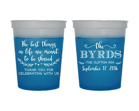 Thank You Wedding Color Changing Cups #1513