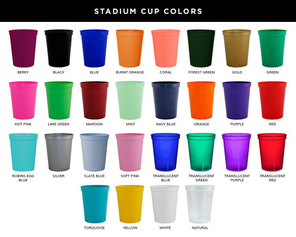 The Catch of a Lifetime Wedding Stadium Cups #1510