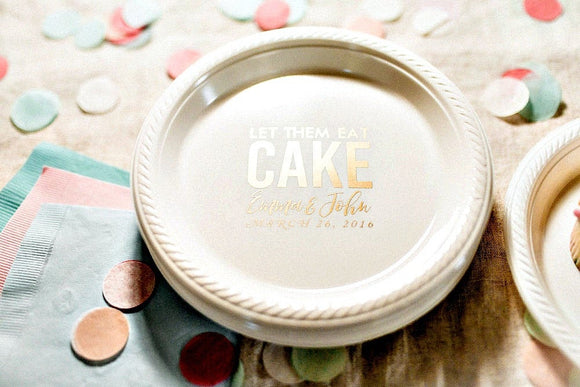Let Them eat Cake Personalized Cake Plates