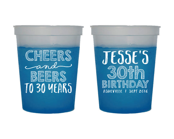 Cheers and Beers Birthday Mood Cup Design #1656