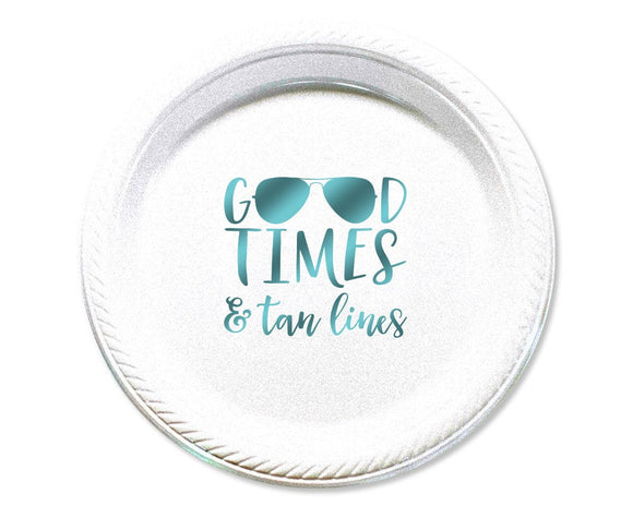 Good Times & Tan Lines Beach Cake Plate #1664