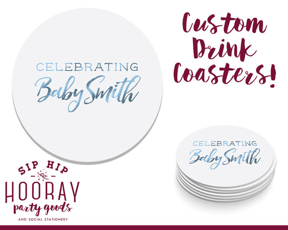 Baby Shower Foil Coasters #1632