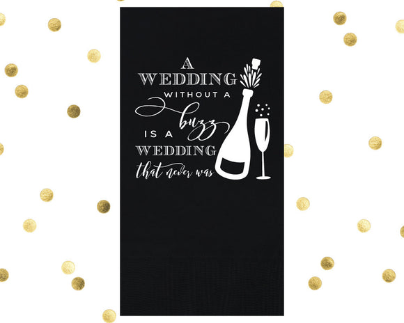 Wedding Buzz Guest Towel Design #1607