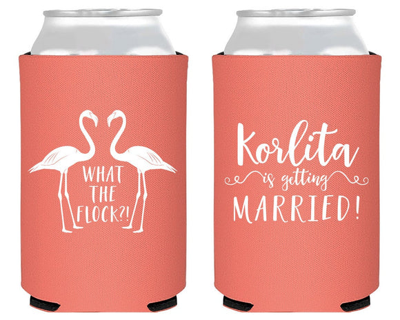 Flamingo Bachelorette Party Can Coolers #1671