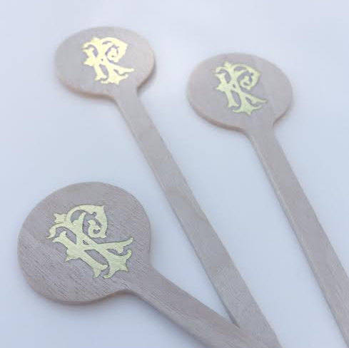 Duogram Wedding Stir Sticks #1740