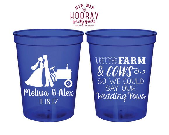 Rustic Country Wedding Stadium Cups #1876