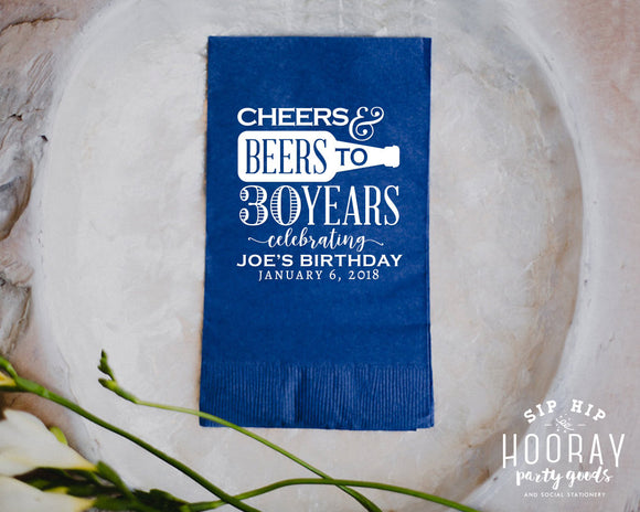 30 Years Guest Towel Napkin Design #1895