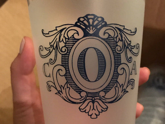 Custom Monogrammed Wedding Frosted Cups #1830