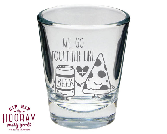 Pizza Engagement Party Shot Glass Design #1844