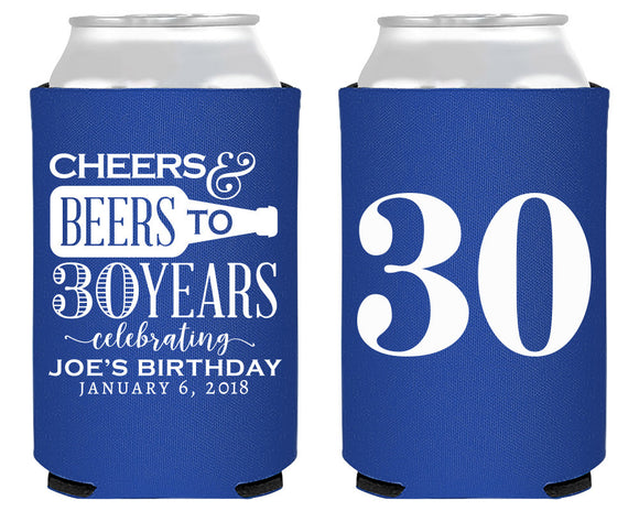 Cheers and Beers to 30 Years Can Cooler Design #1895