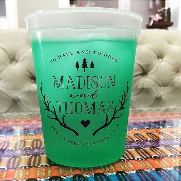 Personalized Last Name Color Changing Cups #1367