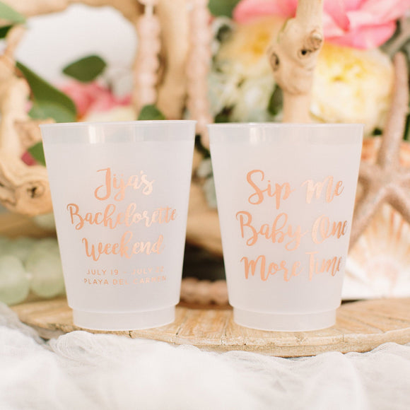 Boujee Bachelorette Frosted Cups