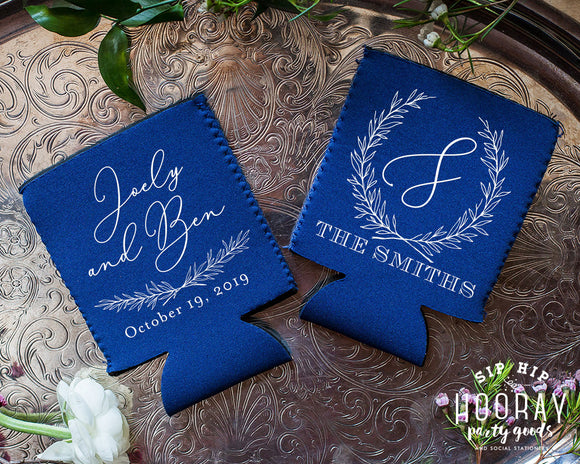 Rustic Wedding Neoprene Can Coolers #1962