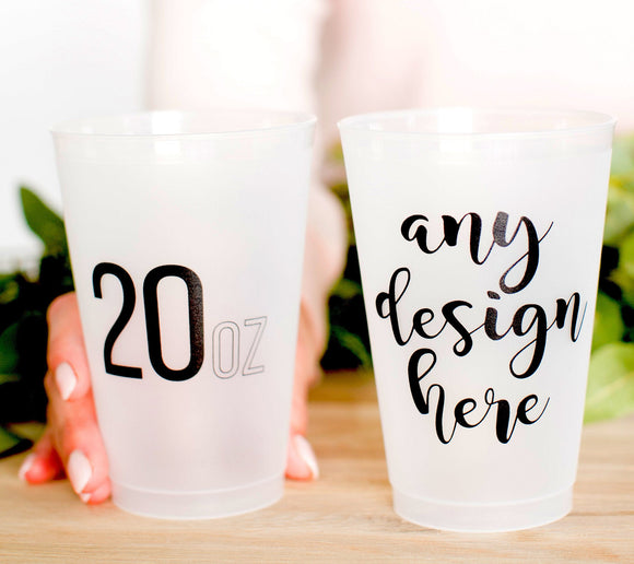20oz Custom Venue Drawing Frosted Cups