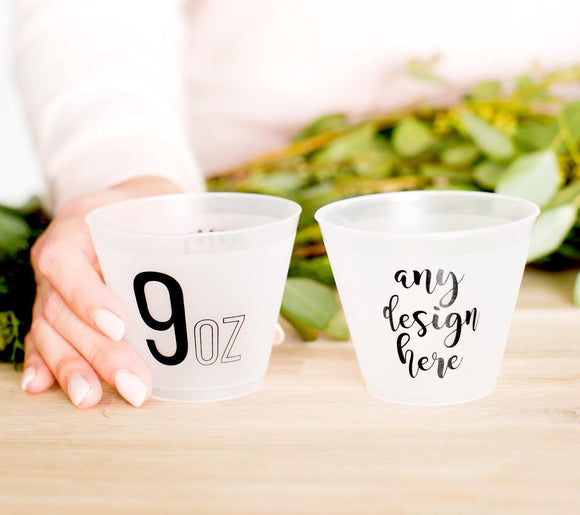 Personalized 9oz Frosted Cups