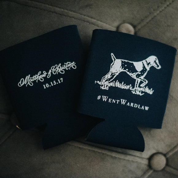 Custom Dog Lover Wedding Koozie