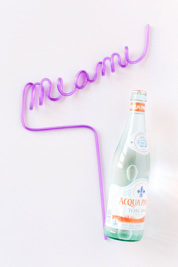 Custom Name Straws