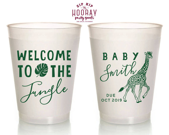 Welcome To The Jungle Baby Shower Safari  Cups Design #1342