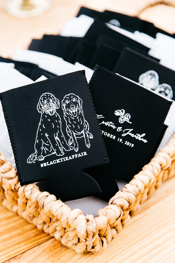 Neoprene Pet Drawing Wedding Can Coolers