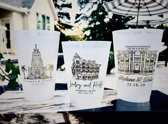 Personalized 14oz Frosted Cups