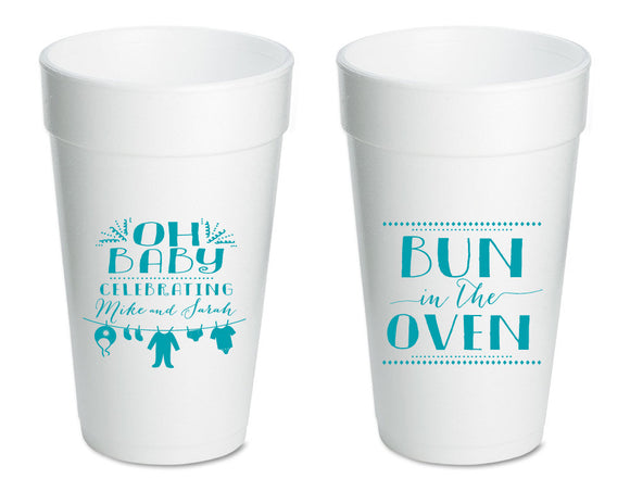 Bun in the Oven | Baby Shower Foam Cup #1018