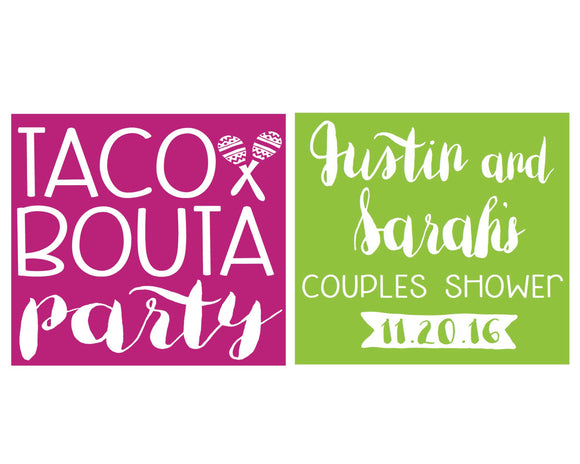 Taco Party Foam Cup Design #1431