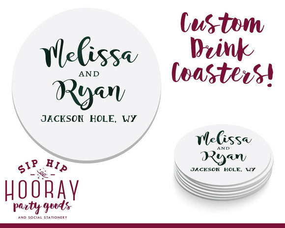Fall Wedding Drink Coasters #1507