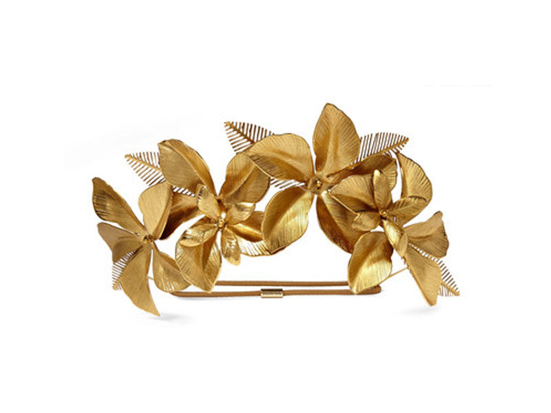 Jennifer Behr gold plated hibiscus headband