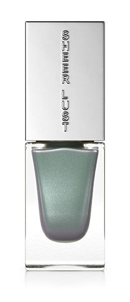 Diamond Dust shiny silver and blue nail polish by Sheer Lust.