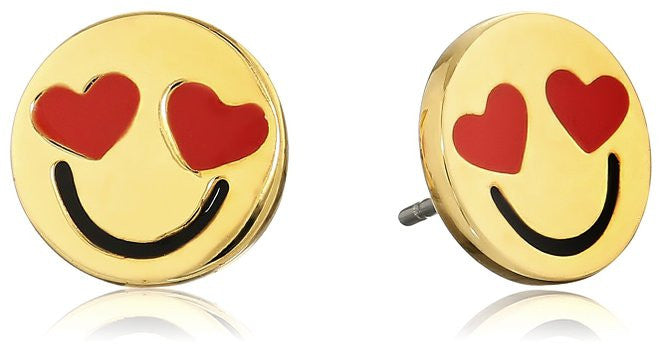 heart eyed smiley face earrings.