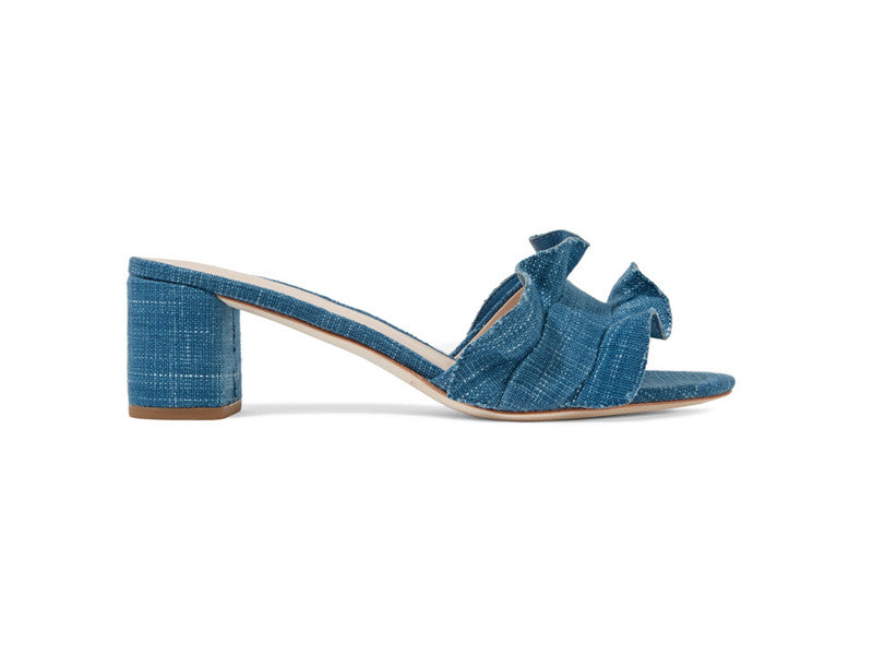 Loeffler Randall denim slides