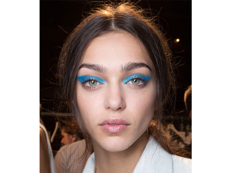 a light blue eyeshadow on the entire eyelid