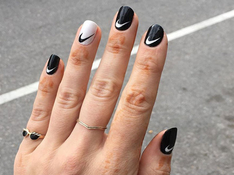 Nail Logo Obsession | Nike, Hilfiger, & Luis Vuitton Nails – Sheer Lust