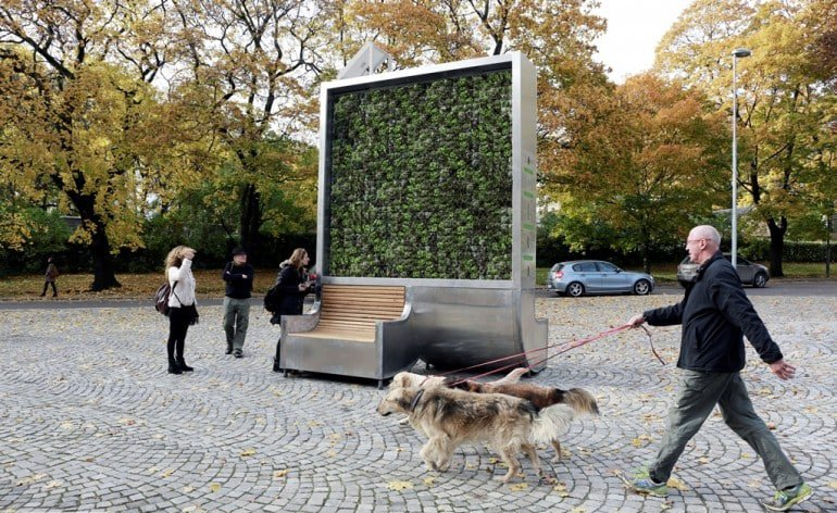 Green Cities, Anti Pollution Seat, Park Bench, Tree bench