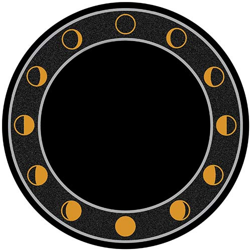"8"" Round Double Sided Acrylic Flat Scrying Mirror. Includes Stand and Downloadable eBook."