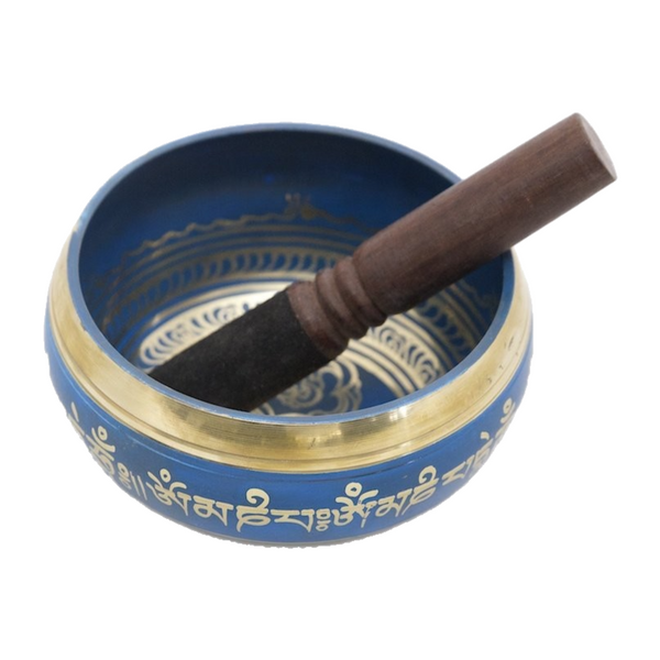 Tibetan Singing Bowl - Blue