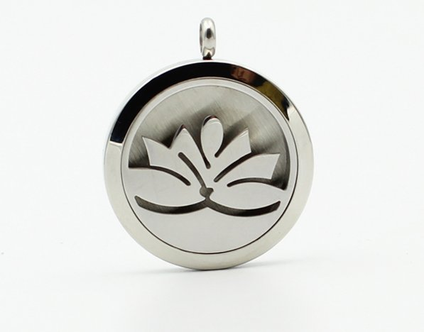 Aromatherapy Diffuser Pendant #1 and Chain - Stainless Steel