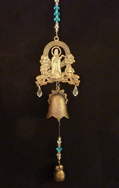 Quan Yin Brass Metal Protective Bell with Buddha Weight